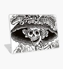 Calavera Catrina   Black and White   Day of the Dead   Dia de los Muertos Laptop Skin