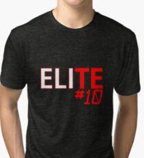 Eli Manning Elite #10 - Giants Tri-blend T-Shirt