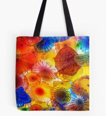Colorful Chihuly Glass Patterns Tote Bag