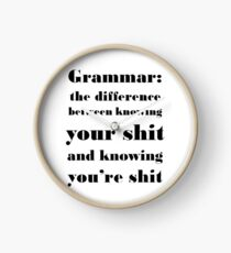 Grammar: The Difference Between Your and You're Clock