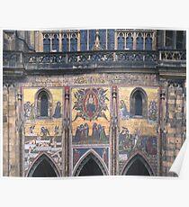 Mural, St. Vitus' Cathedral, Prague Poster