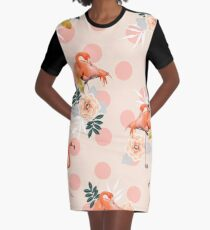 Flamingo Jazz #redbubble #decor #pattern Graphic T-Shirt Dress