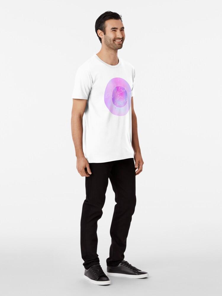 Alternative Ansicht von Ich glaube - galaktisch Premium T-Shirt