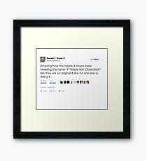 Donald Trump - F**kface Von Clownstick  Framed Print