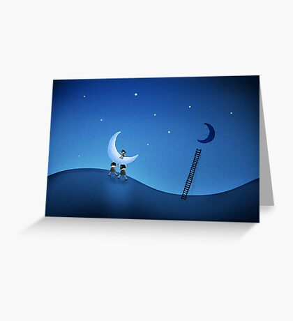 They Stole The Moon (Version 2008) Greeting Card