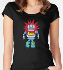 boxy robot Vector-12 Women's Fitted Scoop T-Shirt
