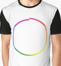 Rainbow Imperfect Circle Graphic T-Shirt