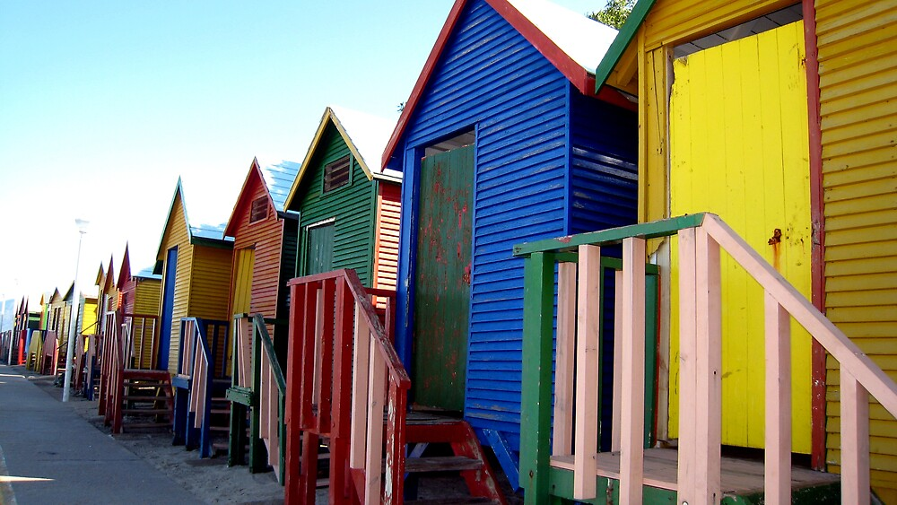 Beach Huts at St James by PPDesigns