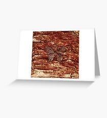 SPICE BUTTERFLY ~ METALLIC SCULPTURED CANVAS Greeting Card