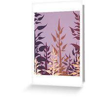 PURPLE VINE ~ SILHOUETTE COLLECTION ~ OIL AND ENAMEL  Greeting Card