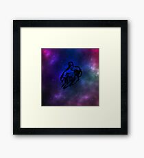 Astronaut lost in space Framed Print