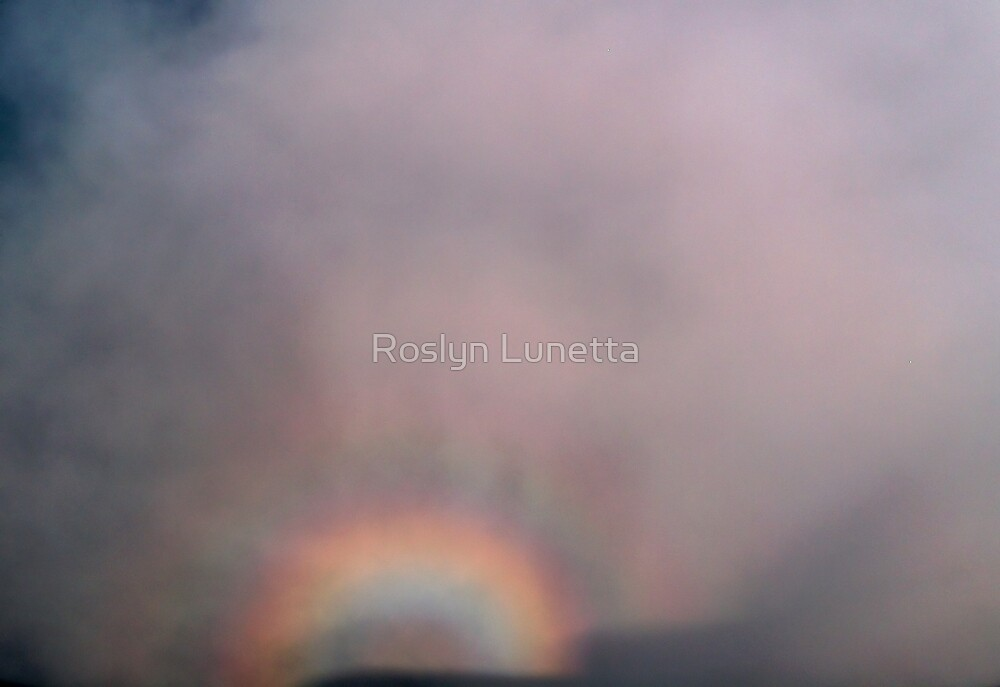 glory and plane shadow by Roslyn Lunetta