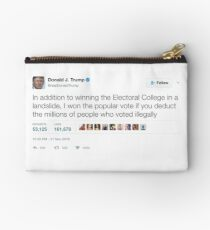 Donald Trump - Millions of People Who Voted Illegally Zipper Pouch