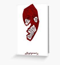 'Red Rose' Greeting Card