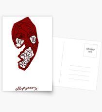 'Red Rose' Postcards