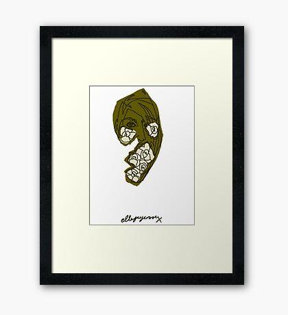 'Khaki Rose' Framed Print