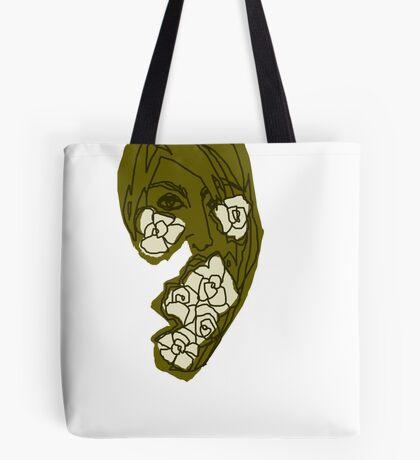 'Khaki Rose' Tote Bag