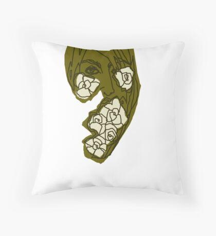 'Khaki Rose' Throw Pillow