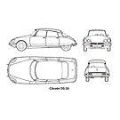 Classic car design DS 20 by Boxzero