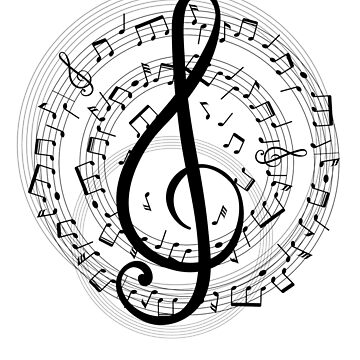 Treble Music Clef by nwsoulacademy