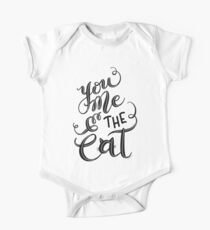 Feline Kitten You Me & the Cat Hand Lettering Design Kids Clothes