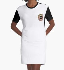 Red, Orange and Yellow Dharma Initiative Sign Graphic T-Shirt Dress