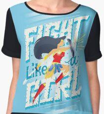 Fight Like A Girl Chiffon Top