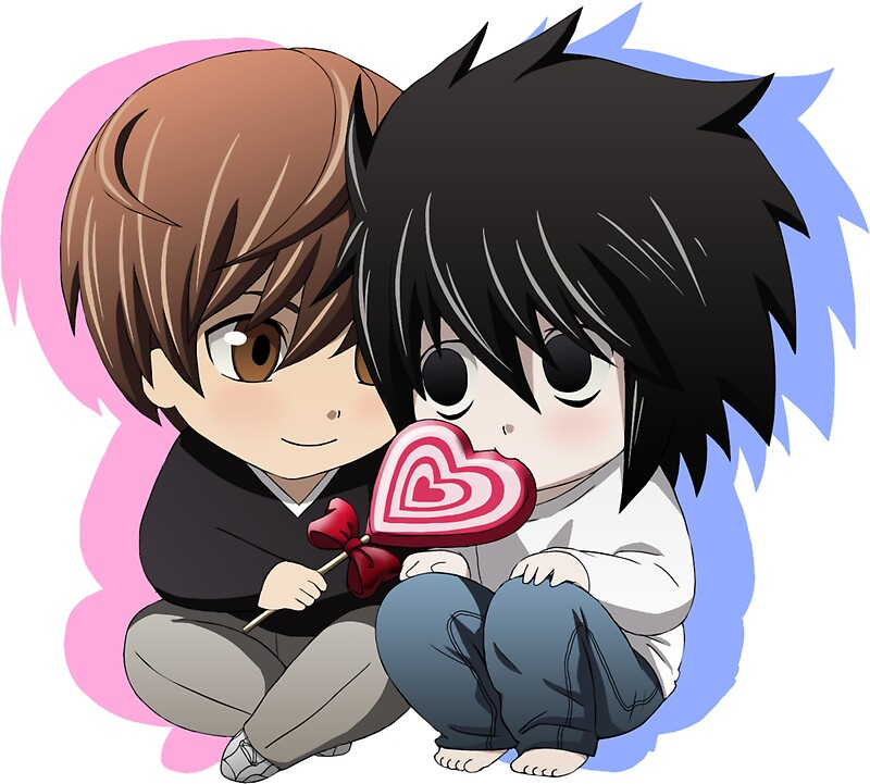 Death Note Chibi Light X L  Stickers By Shaami  Redbubble