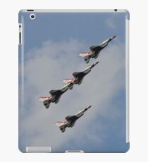 The U.S. Air Force Thunderbirds fly in formation. iPad Case/Skin