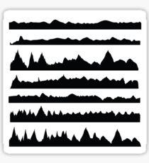 mountain silhouettes Sticker