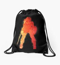Fire Woman Drawstring Bag