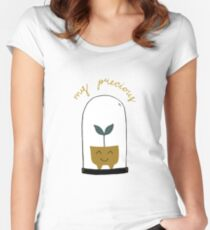 Cute plant pot with my precious quote. Women's Fitted Scoop T-Shirt