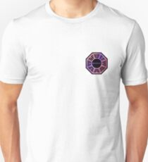 Pink and Purple Dharma Initiative Sign Unisex T-Shirt