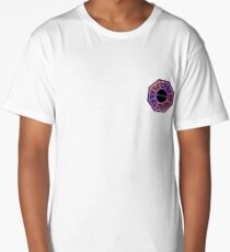 Pink and Purple Dharma Initiative Sign Long T-Shirt