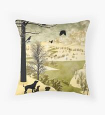 Explore Bruegel Hunters Throw Pillow