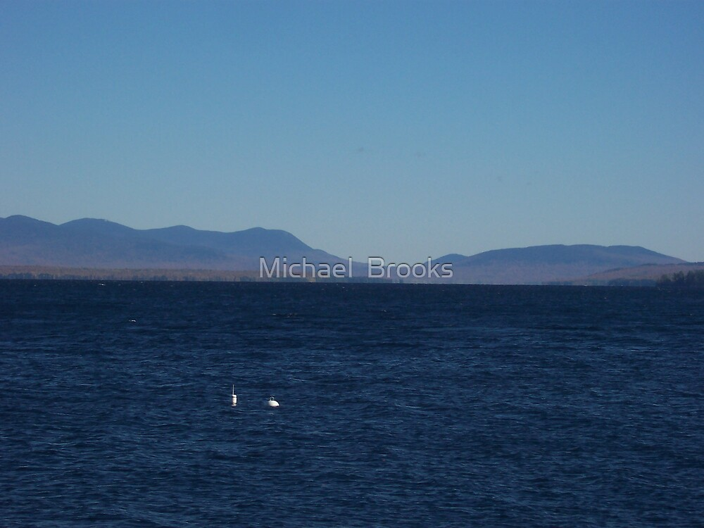 Moosehead Lake View of the Moutians by Michael  Brooks