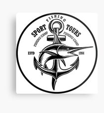 Swordfish, fishing sport sticker Metal Print