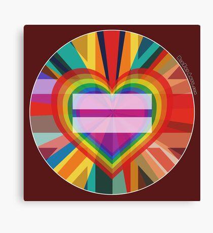 Equal Rainbow Union Canvas Print
