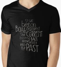 So we beat on - The Great Gatsby Men's V-Neck T-Shirt