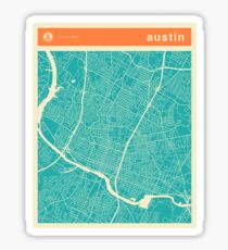 AUSTIN MAP Sticker