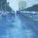 Rainy Day Traffic von Estelle O'Brien
