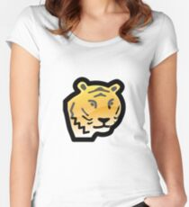 Cartoon Tiger Women's Fitted Scoop T-Shirt