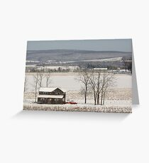 The Fields are White with Snow Greeting Card