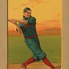Weinlese-Baseball-Spieler - Bescher - Cincinnati von Marlene Watson