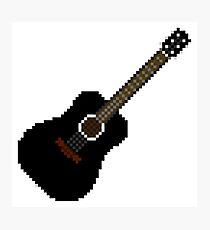 Black acoustic guitar Photographic Print