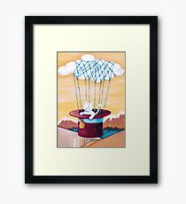 The Cat Traveling in Dreams Framed Print