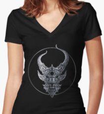 Demon Hunter Outlive Women's Fitted V-Neck T-Shirt