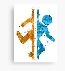 Portal Splatter Canvas Print