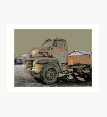 Rusted Truck at Copper Lumber Art Print