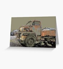 Rusted Truck at Copper Lumber Greeting Card